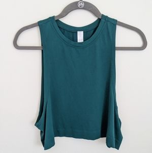 Avocado To Go Tank Soft Seamless Crop Muscle Top